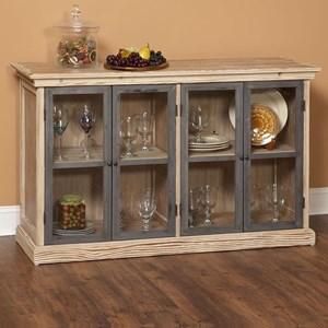 Glass Door Dining Storage Buffet
