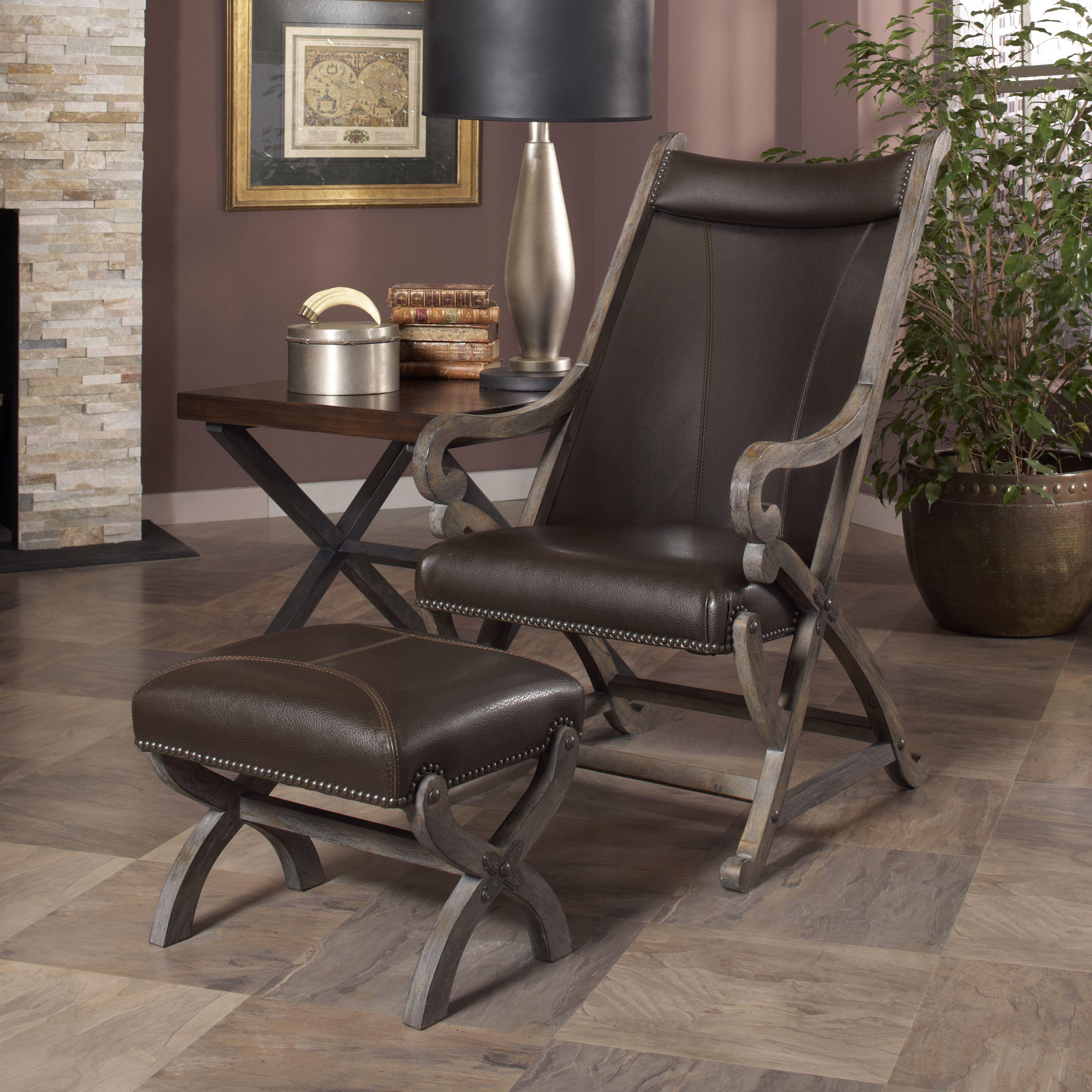 Hunter Hunter Chair and Ottoman by Largo at Johnny Janosik