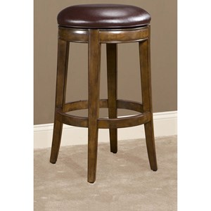 """30"""" Swivel Bar Stool with Upholstered Seat"""
