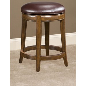 "24"" Swivel Counter Stool with Upholstered Seat"