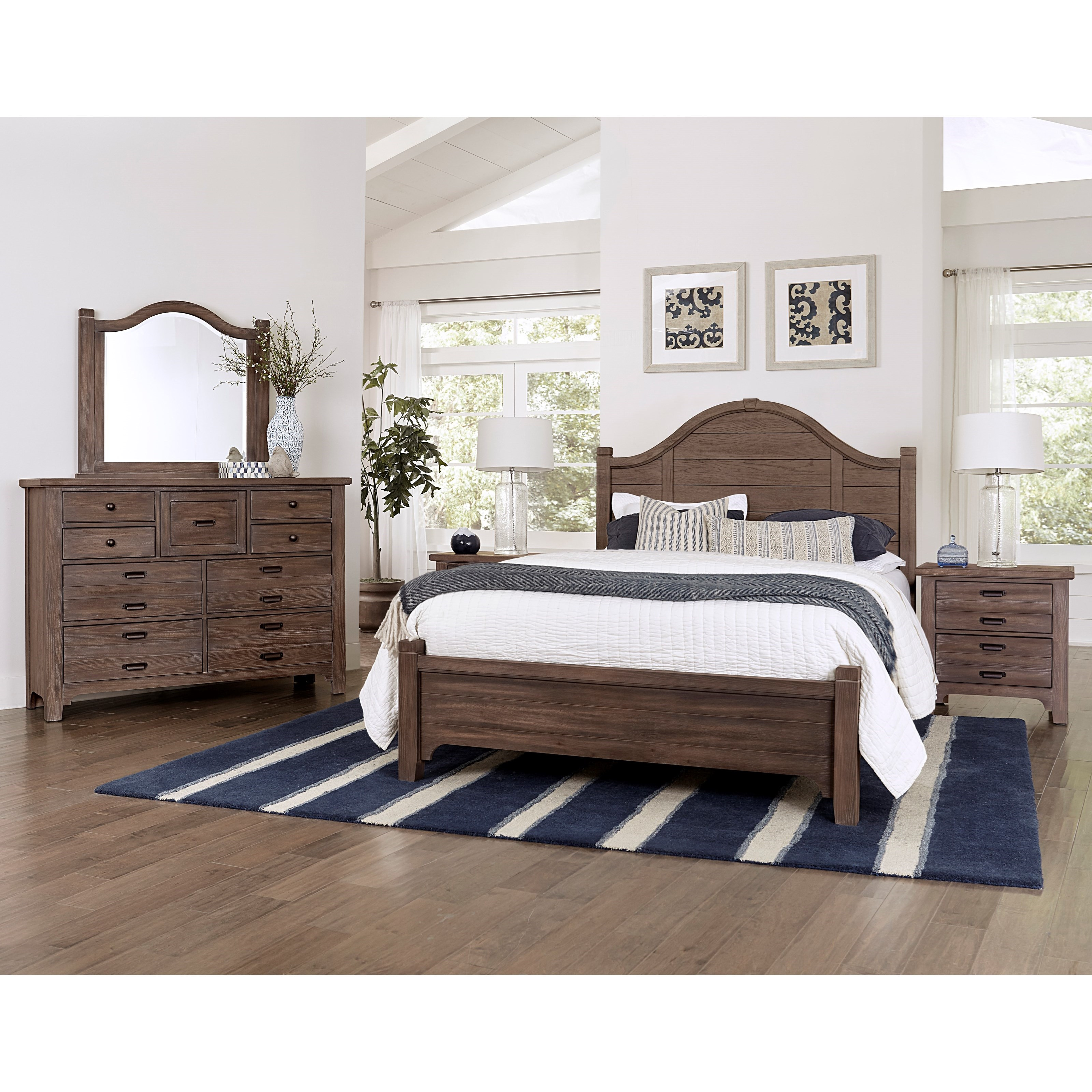 Bungalow King Bedroom Group by Laurel Mercantile Co. at Home Collections Furniture