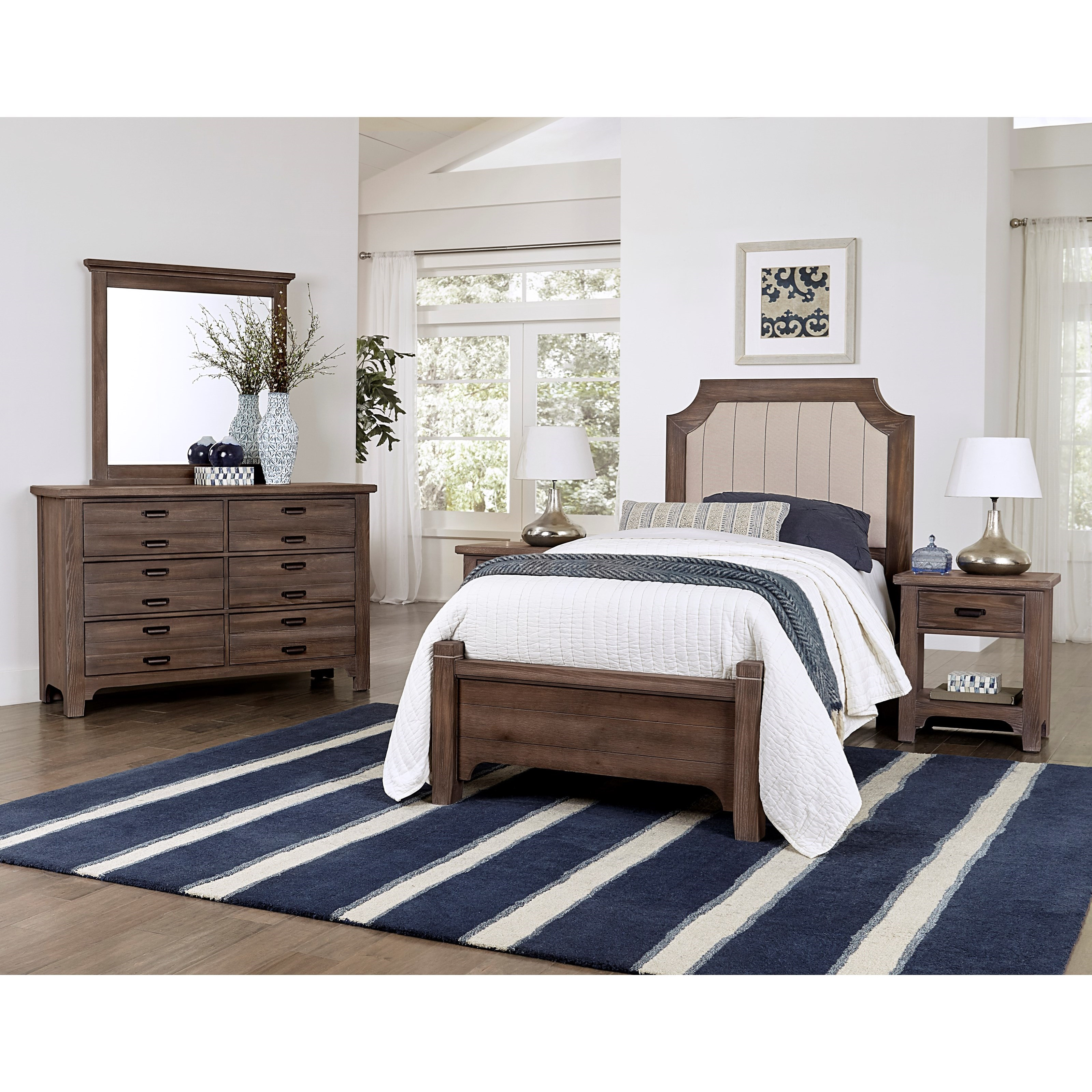 Bungalow Twin Bedroom Group by Laurel Mercantile Co. at Johnny Janosik
