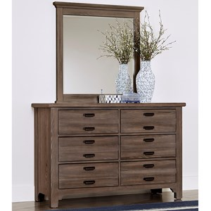 Double Dresser and Landscape Mirror