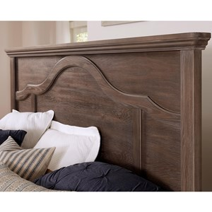 Transitional Queen Mantel Headboard