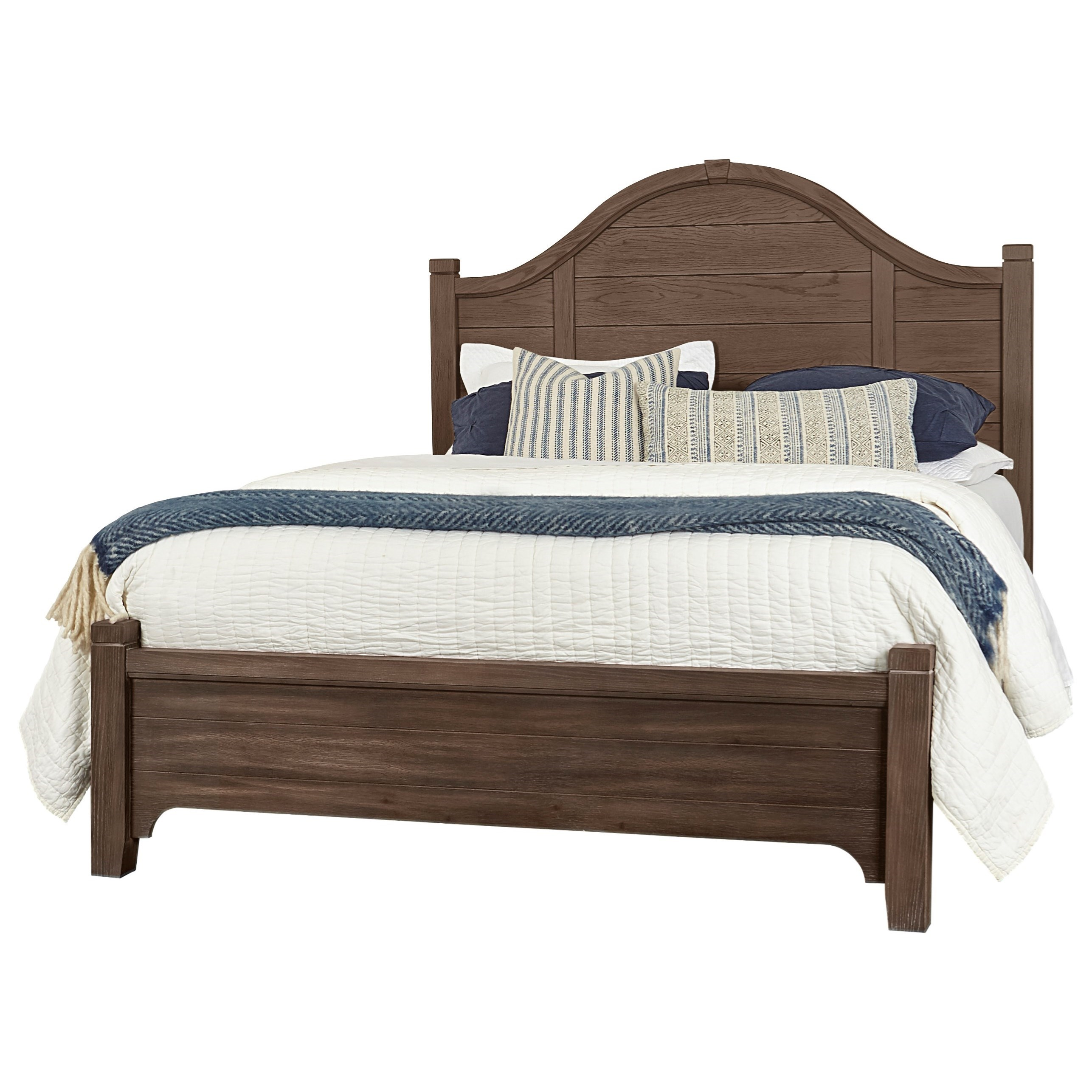 Bungalow King Arch Bed Low Profile Footboard by Vaughan-Bassett at Crowley Furniture & Mattress