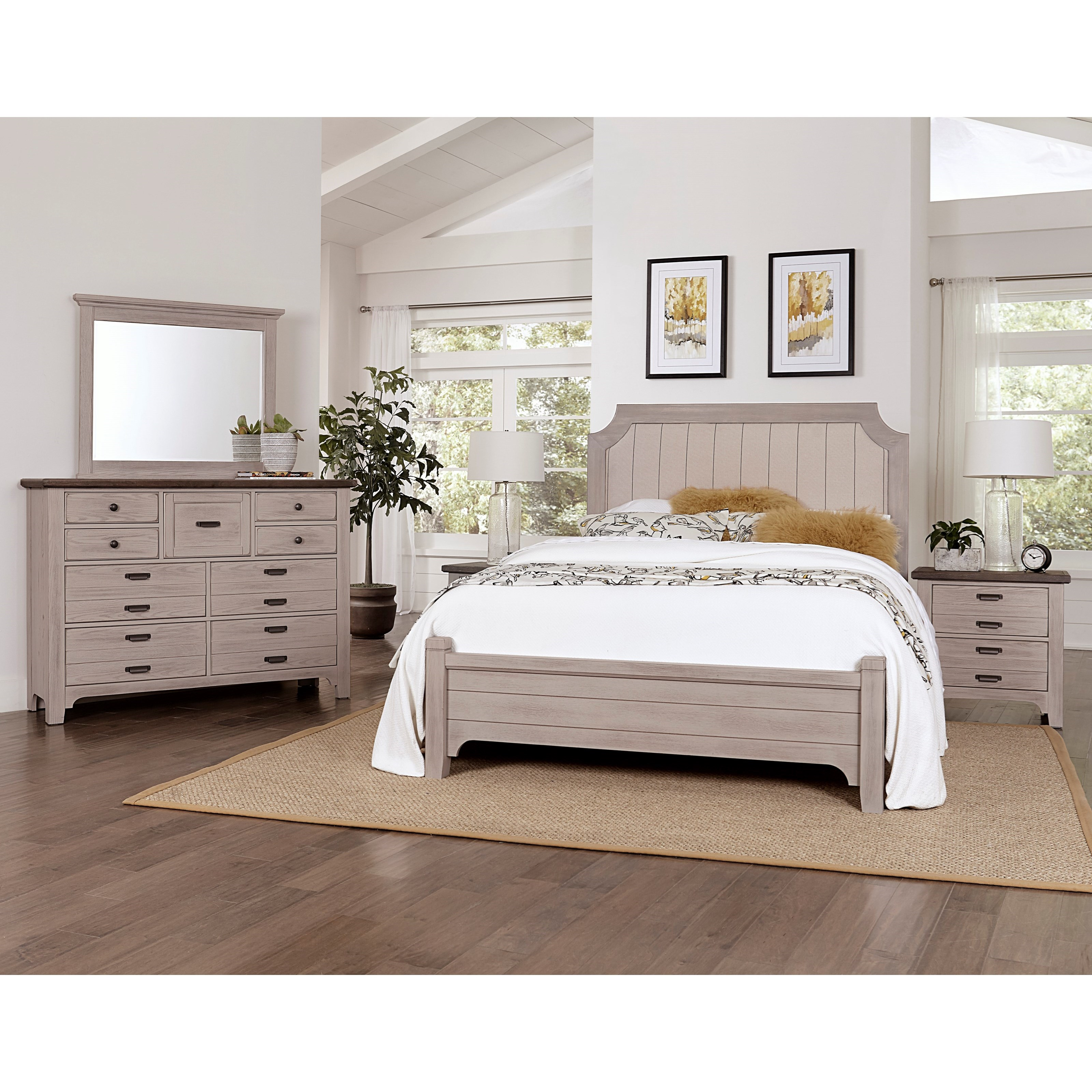 Bungalow King Bedroom Group by Laurel Mercantile Co. at Johnny Janosik