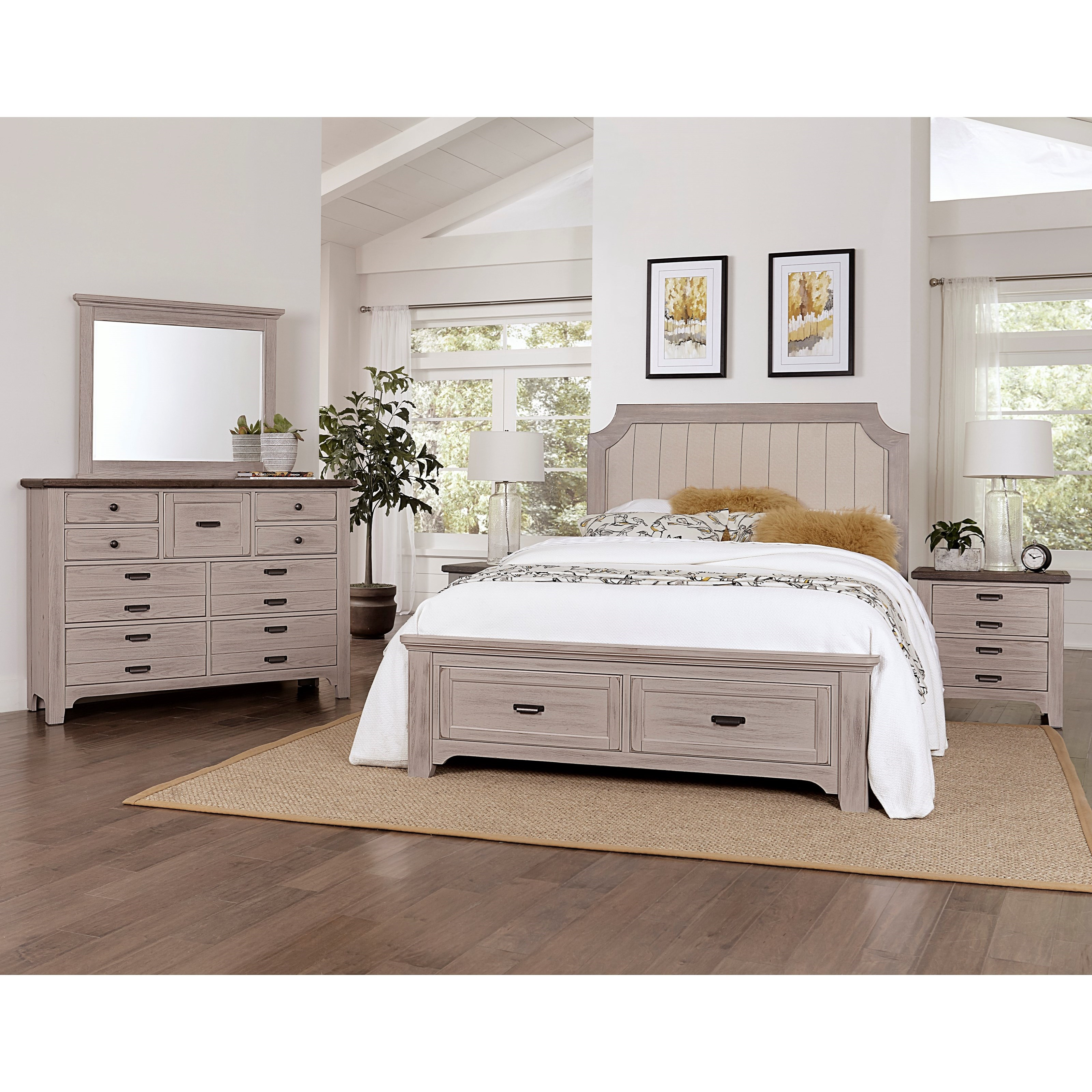 Bungalow King Bedroom Group by Vaughan-Bassett at Crowley Furniture & Mattress