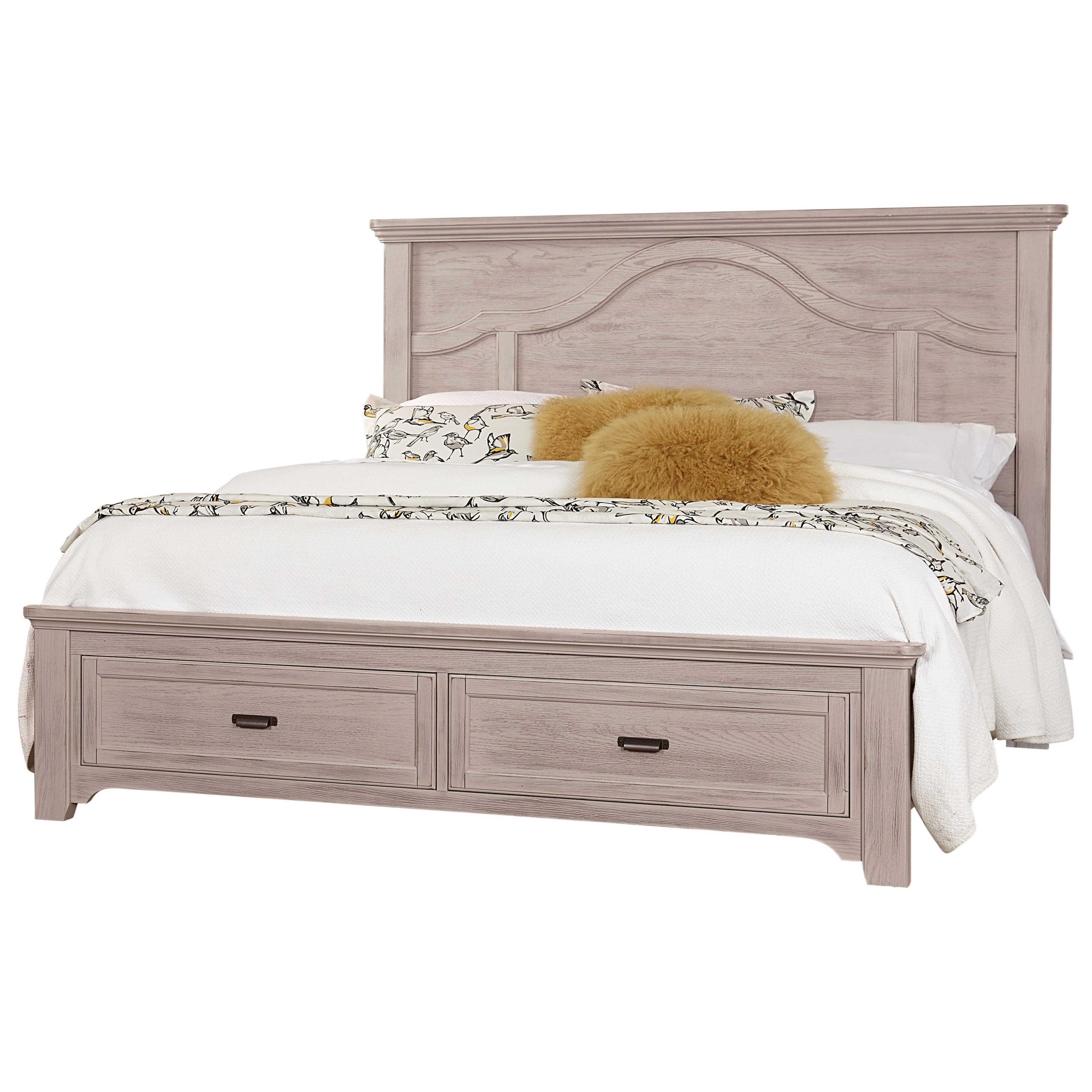 Bungalow Queen Mantel Storage Bed by Vaughan-Bassett at Crowley Furniture & Mattress
