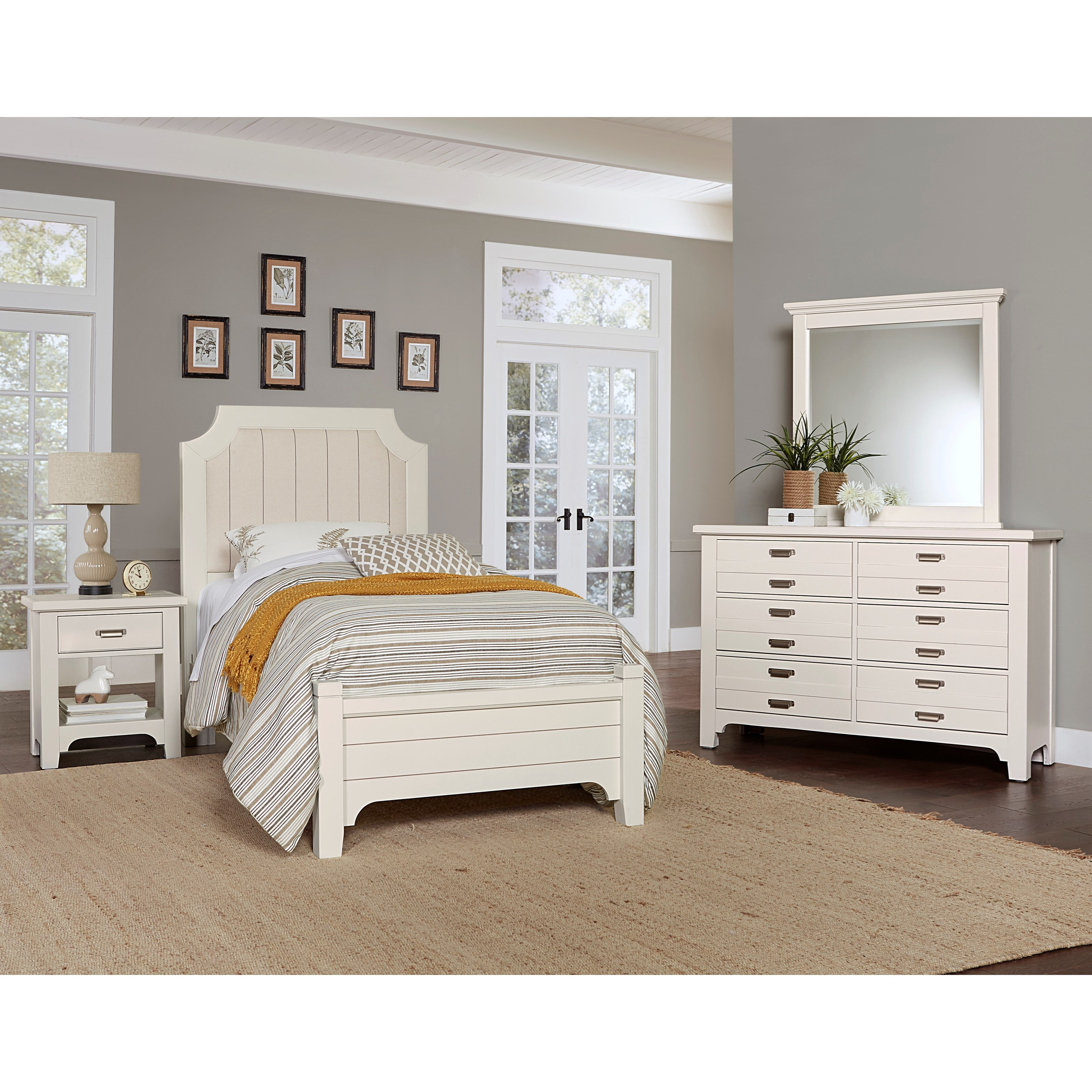 Bungalow Twin Bedroom Group by Vaughan-Bassett at Crowley Furniture & Mattress