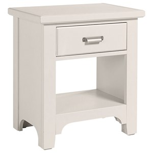 Transitional 1 Drawer Nightstand