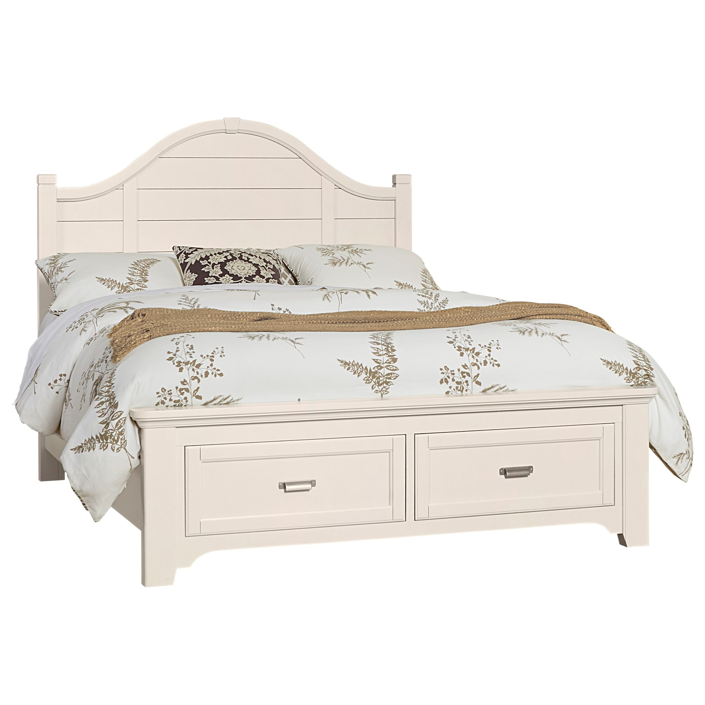 Bungalow King Arch Storage Bed by Vaughan-Bassett at Crowley Furniture & Mattress