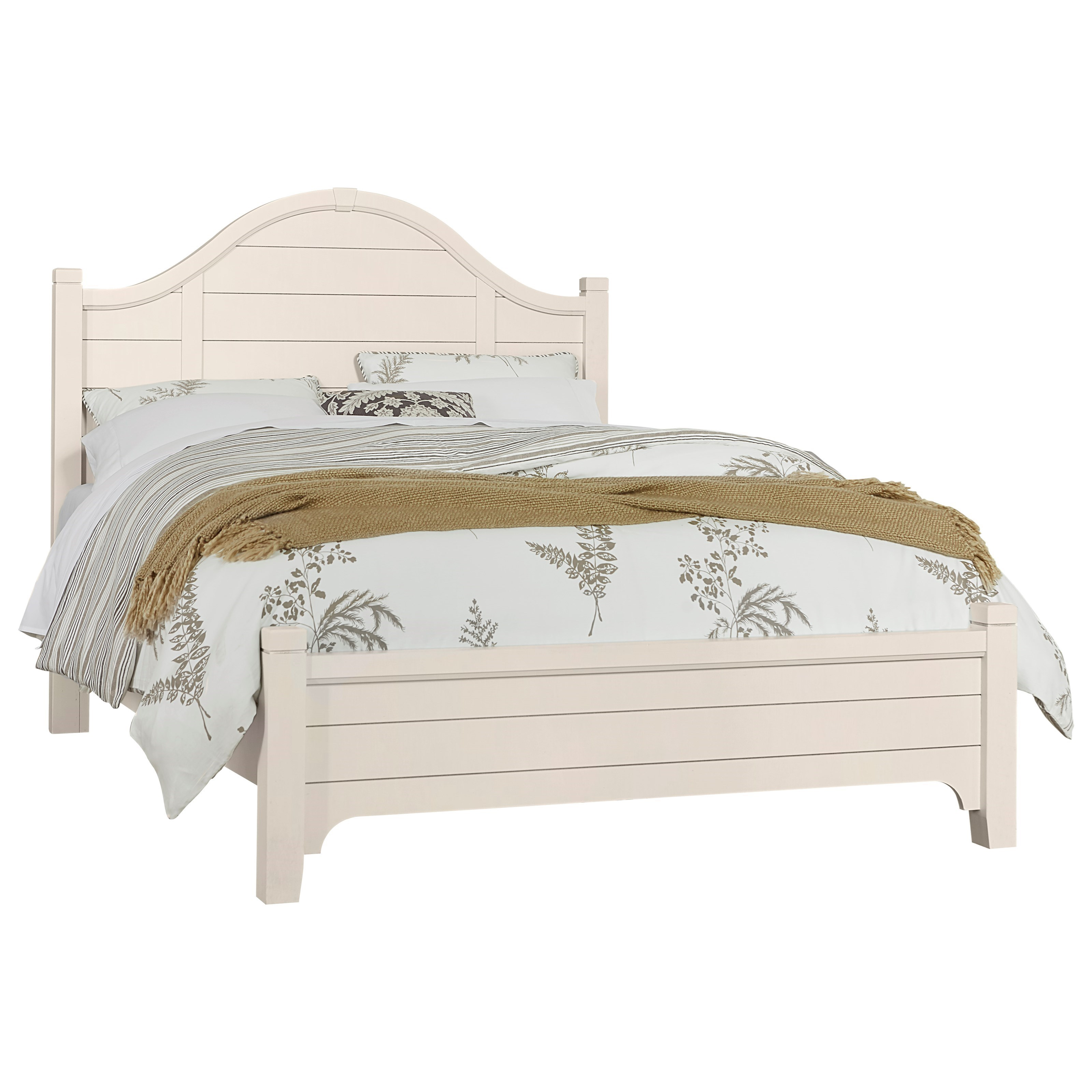 Bungalow King Arch Bed with Low Profile Footboard by Vaughan-Bassett at Crowley Furniture & Mattress