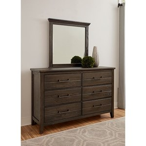 Rustic Dresser and Mirror Set