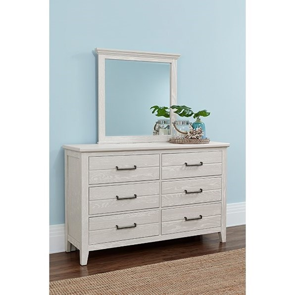 Passageways Dresser and Mirror Set by Laurel Mercantile Co. at Johnny Janosik