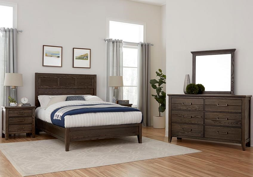 Passageways King Bed, Dresser, Mirror, Nightstand by Laurel Mercantile Co. at Johnny Janosik