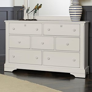 Rustic Solid Wood 7-Drawer Dresser