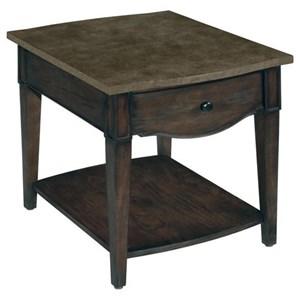 1 Drawer Rectangular End Table