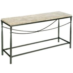 Rectangular Console Table with X Stretcher Design