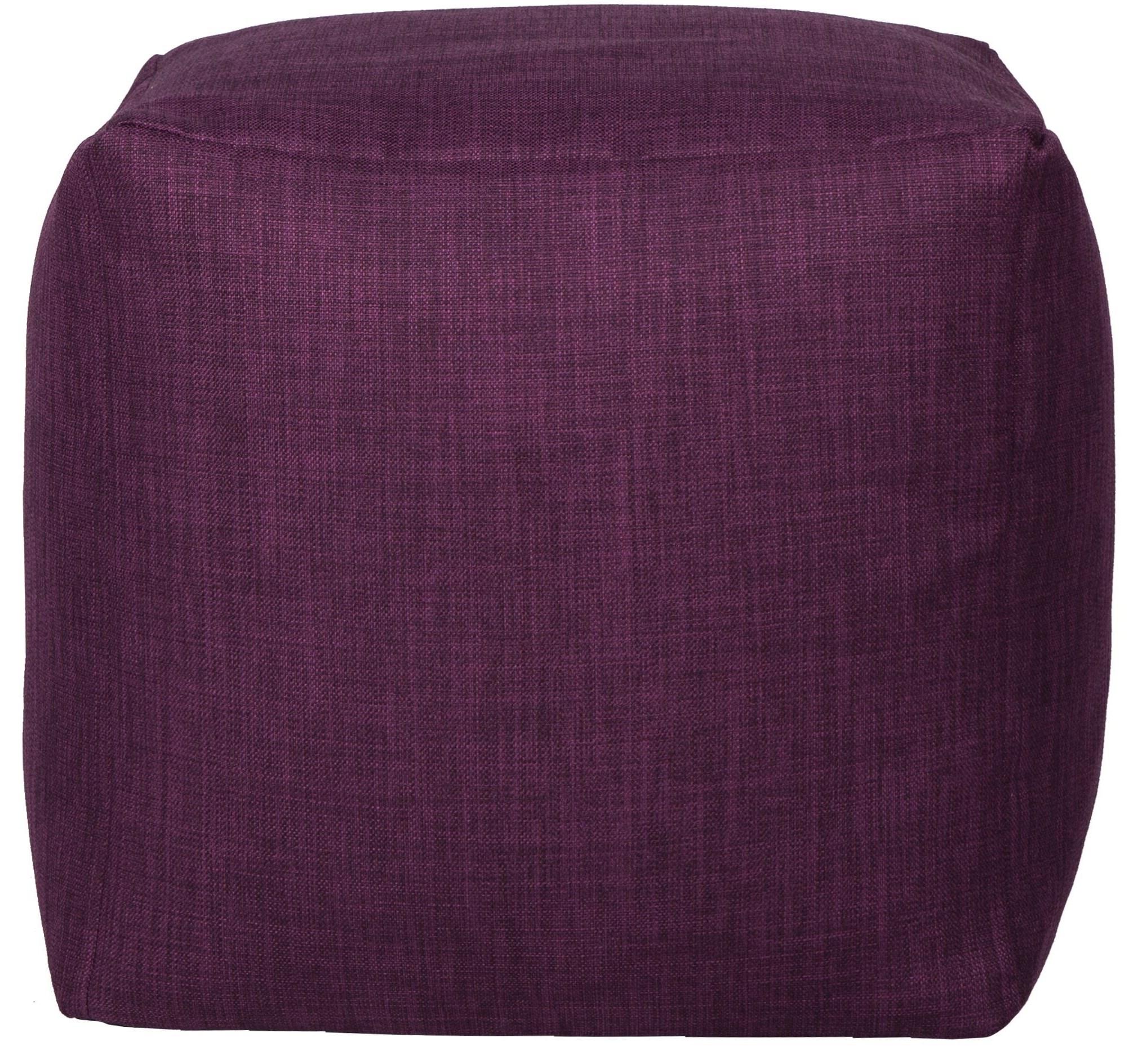 Beanbag Canvas Purple Cube Beanbag by Lazy Life Paris at HomeWorld Furniture