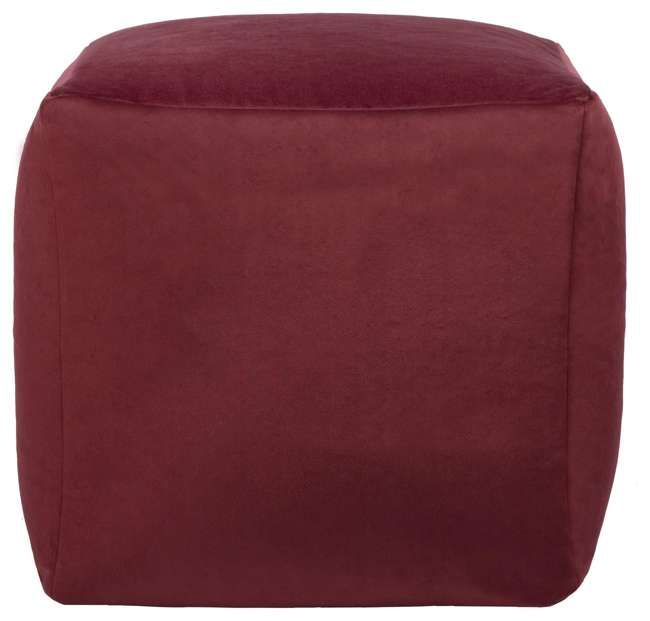 Beanbag Red Cube Beanbag by Lazy Life Paris at HomeWorld Furniture