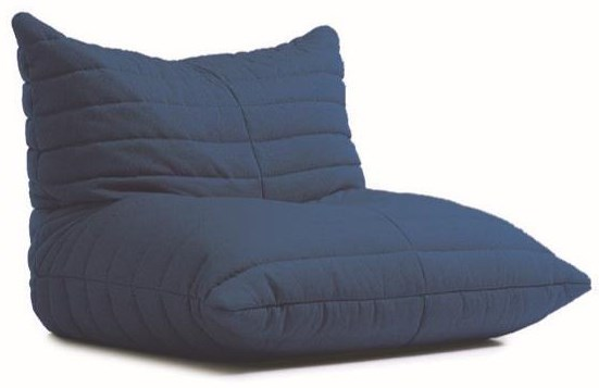 Beanbag Blue Beanbag Lounger by Lazy Life Paris at HomeWorld Furniture