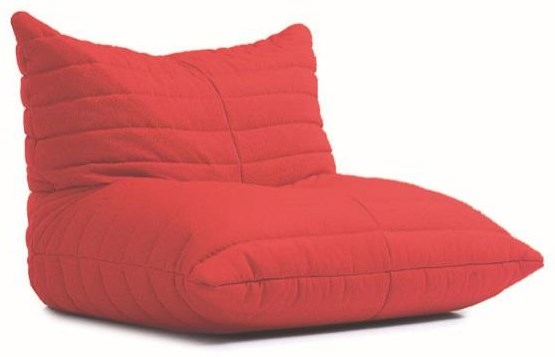 Beanbag Red Beanbag Lounger by Lazy Life Paris at HomeWorld Furniture