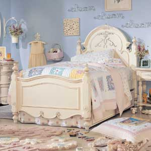 Lea Industries Jessica McClintock Romance Twin Panel Bed