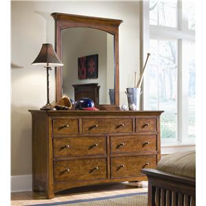 Lea Industries Elite - Crossover 7-Drawer Dresser & Mirror Combo