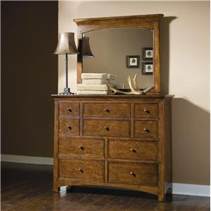 Lea Industries Elite - Crossover Bureau Dresser & Mirror Combo