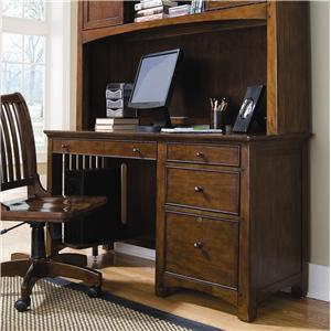 Lea Industries Elite - Crossover Single Pedestal Desk