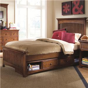 Lea Industries Elite - Crossover Twin Slat Storage Bed