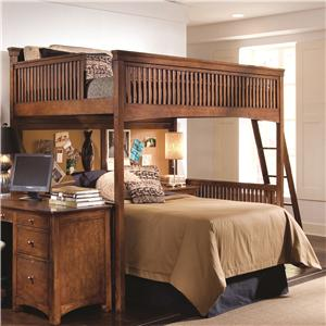 Lea Industries Elite - Crossover Twin Loft Bed