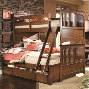Lea Industries Elite - Crossover Twin-Over-Full Storage Bunk Bed