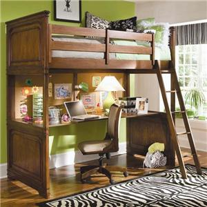 Lea Industries Elite - Classics Twin Loft Bed with Desk Top