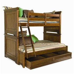 Lea Industries Elite - Classics Twin Over Full Bunk Bed with Storage