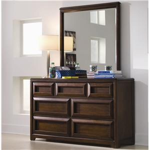 Lea Industries Elite - Expressions Seven Drawer Dresser with Mirror