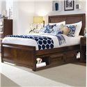 Lea Industries Elite - Expressions Queen Panel Storage Bed