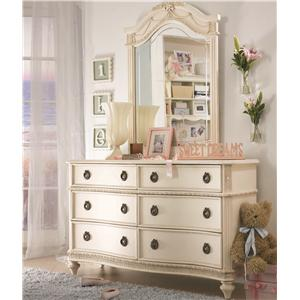 Lea Industries Emma's Treasures Dresser & Mirror