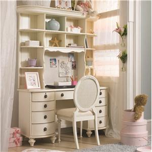 Lea Industries Emma's Treasures Desk & Large Hutch