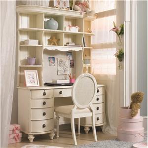 Lea Industries Emma's Treasures Desk & Large Hutch