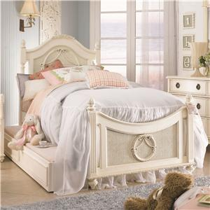 Lea Industries Emma's Treasures Twin Storage Poster Bed