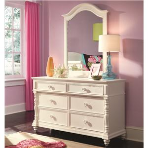 Lea Industries Hannah Dresser and Mirror Combo