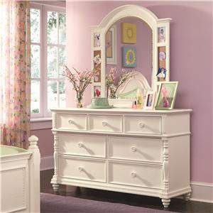 Lea Industries Hannah Drawer Dresser and Mirror Combo