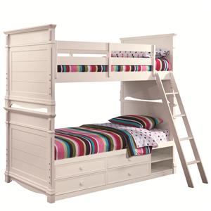 Lea Industries Hannah Twin Bunk Bed with Storage