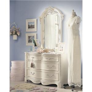Lea Industries Jessica McClintock Romance Dresser & Mirror