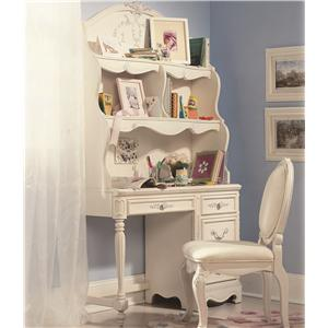 Lea Industries Jessica McClintock Romance Student Desk & Large Hutch