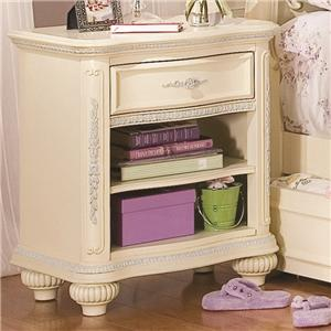 Lea Industries Jessica McClintock Romance Open Drawer Nightstand