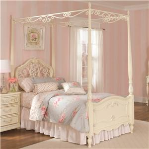 Lea Industries Jessica McClintock Romance Twin Canopy Bed