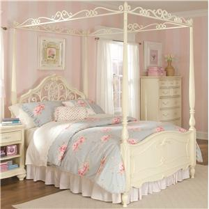 Lea Industries Jessica McClintock Romance Full Canopy Bed