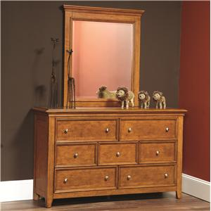 Lea Industries Willow Run Dresser & Mirror